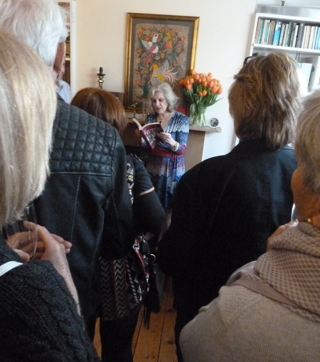 Susan Lee Kerr reading from The Extraordinary Dr Epstein at launch party