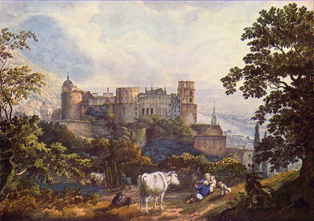Heidelberg Castle ruins, Carl Philipp Fohr