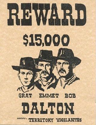 Cartel-de-Se-busca-de-los-Hermanos-Dalton-legendsofamerica_com_